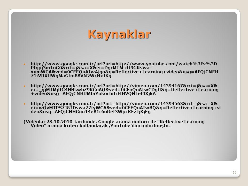 Kaynaklar Kaynaklar  http://www.google.com.tr/url?url=http://www.youtube.com/watch%3Fv%3D Pfqpj3m1nG0&rct=j&sa=X&ei=DgrMTM-dJ9GRswa- xumWCA&ved=0CEEQ