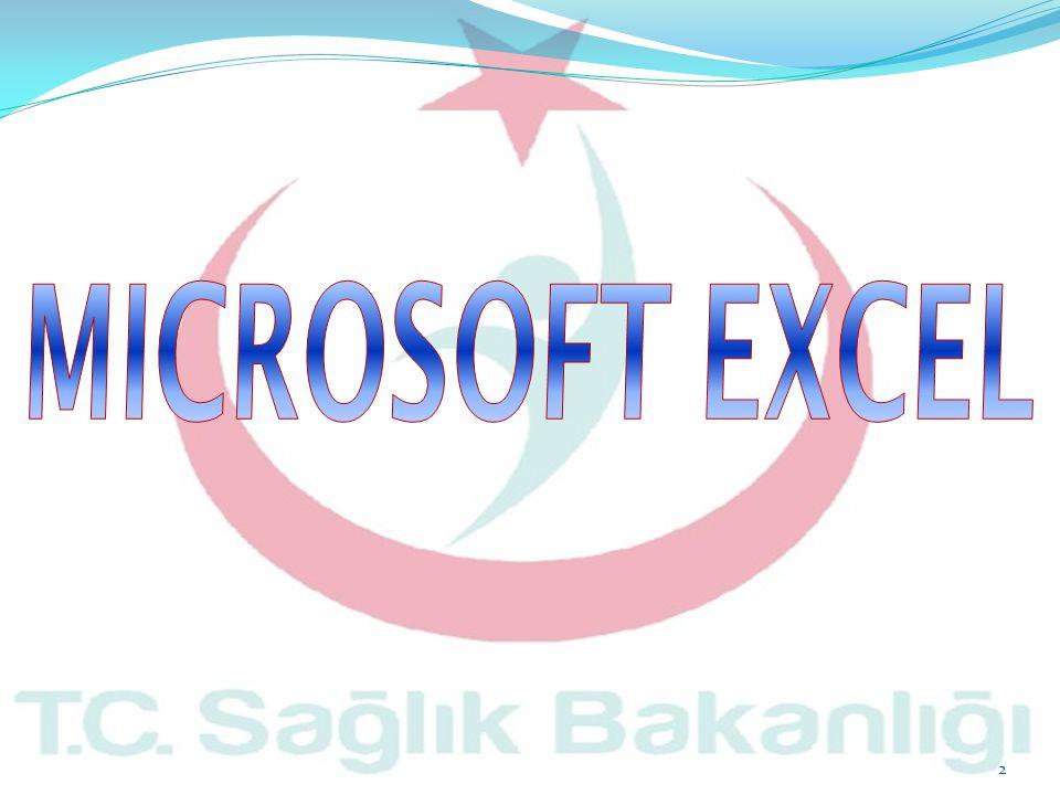  Excel, bir hesap tablosu uygulamasıdır.