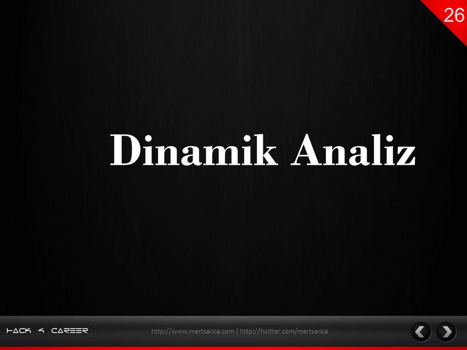 Dinamik Analiz http://www.mertsarica.com | http://twitter.com/mertsarica
