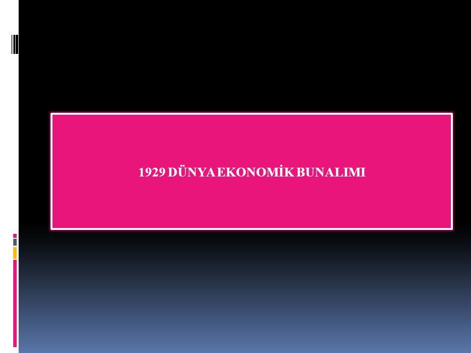 1929 DÜNYA EKONOMİK BUNALIMI