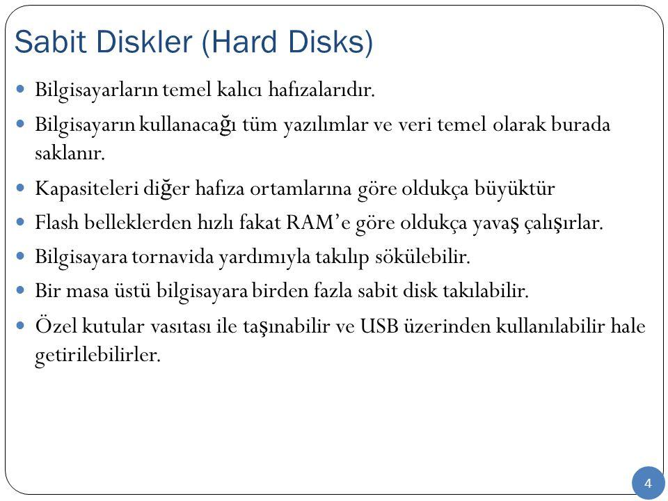 Biçimlendirme İşlemi  Biçimlendirme, varsa disk üzerinde eski verileri anlamsız kılar  Bu yönüyle sorunlu durumlarda sıfırlama veya tamamen silme amacı ile kullanımı da yaygındır  Ancak veriler bu süreçte gerçek olarak silinmezler  Bu yüzden hatalı formatlama işlemlerinde, özel yazılımlar ve süreçler ile veriler halen disk üzerindeler ise kurtarılabilirler  Biçimlendirme işlemi yaygın olarak 3 farklı biçimde yapılır  İşletim sistemi kurulum ekranlarından  DOS altından format komutu ile  Windows altından disk yönetim ekranı ile