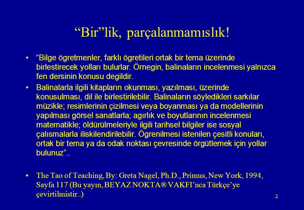 3 SENARYO TEMELLI EGITIM (STE) •Günümüz Türkiye'si okullarında ders isleme konusundaki en önemli sorun, bir bütün olması gereken derslerin asırı parçalanmıslıgıdır.