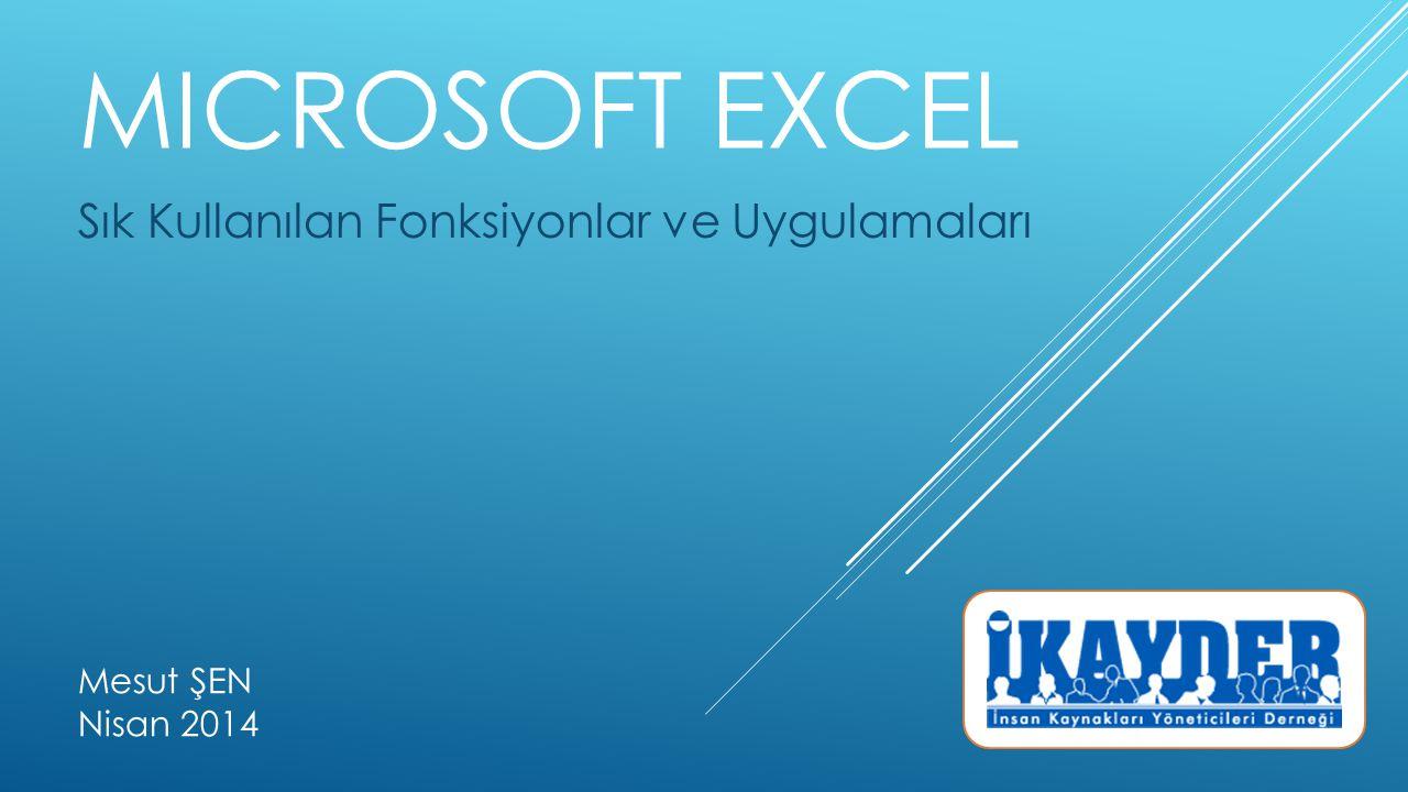 YAZDıRMA ALANı BELIRLEMEK Excel 'de belirli bir alanın yazıcıdan çıktısının alınması amacıyla kullanılır.