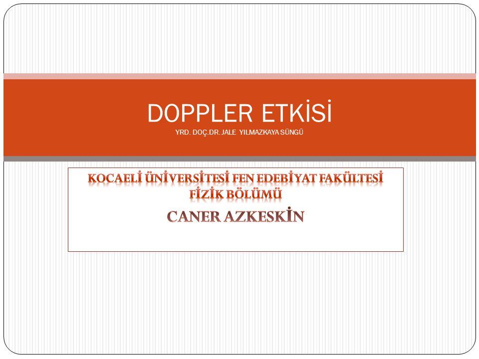 Doppler etkisi (veya Doppler olayı), adını ünlü bilim insanı ve matematikçi Christian Andreas Doppler den almakta olup, kısaca dalga özelliği gösteren herhangi bir fiziksel varlığın frekans ve dalga boyu nun hareketli (yakınlaşan veya uzaklaşan) bir gözlemci tarafından farklı zaman ve/veya konumlarda farklı algılanması olayıdır.Christian Andreas Dopplerfrekansdalga boyu