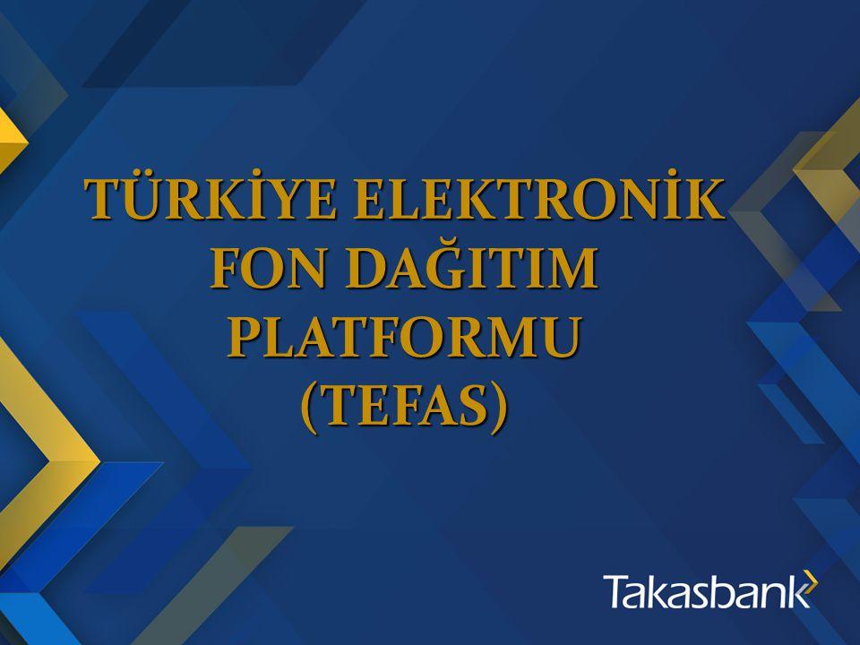ÜYELİK Yatırım kuruluşları ve portföy yönetim şirketleri SPK tarafından kapsama dahil edilen fonlar Türkiye Elektronik Fon Dağıtım Platformu Taahhütnamesi