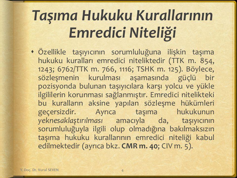 Yükle İlgilinin Emir/Talimat ve Tasarruf Hakkı (m.