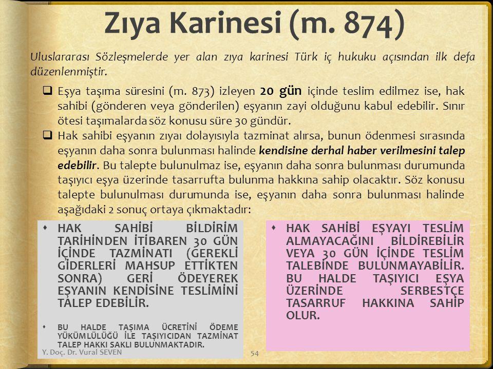 Zıya Karinesi (m. 874)  HAK SAHİBİ BİLDİRİM TARİHİNDEN İTİBAREN 30 GÜN İÇİNDE TAZMİNATI (GEREKLİ GİDERLERİ MAHSUP ETTİKTEN SONRA) GERİ ÖDEYEREK EŞYAN