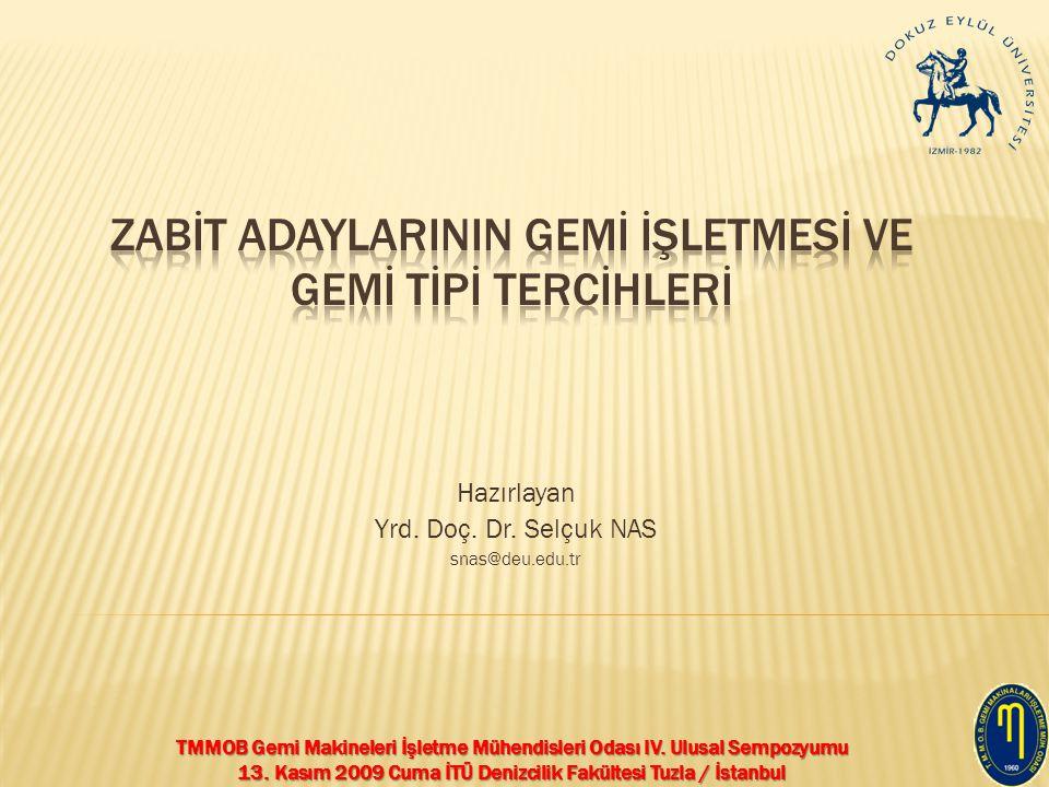 TMMOB Gemi Makineleri İşletme Mühendisleri Odası IV. Ulusal Sempozyumu 13. Kasım 2009 Cuma İTÜ Denizcilik Fakültesi Tuzla / İstanbul Hazırlayan Yrd. D