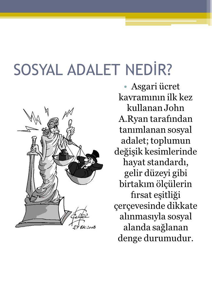 SOSYAL ADALET NEDİR.