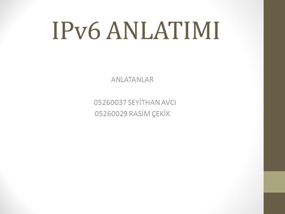 Daha Geniş Adres Uzayı: IPv6 adresleri 128bitlik adreslerdir.