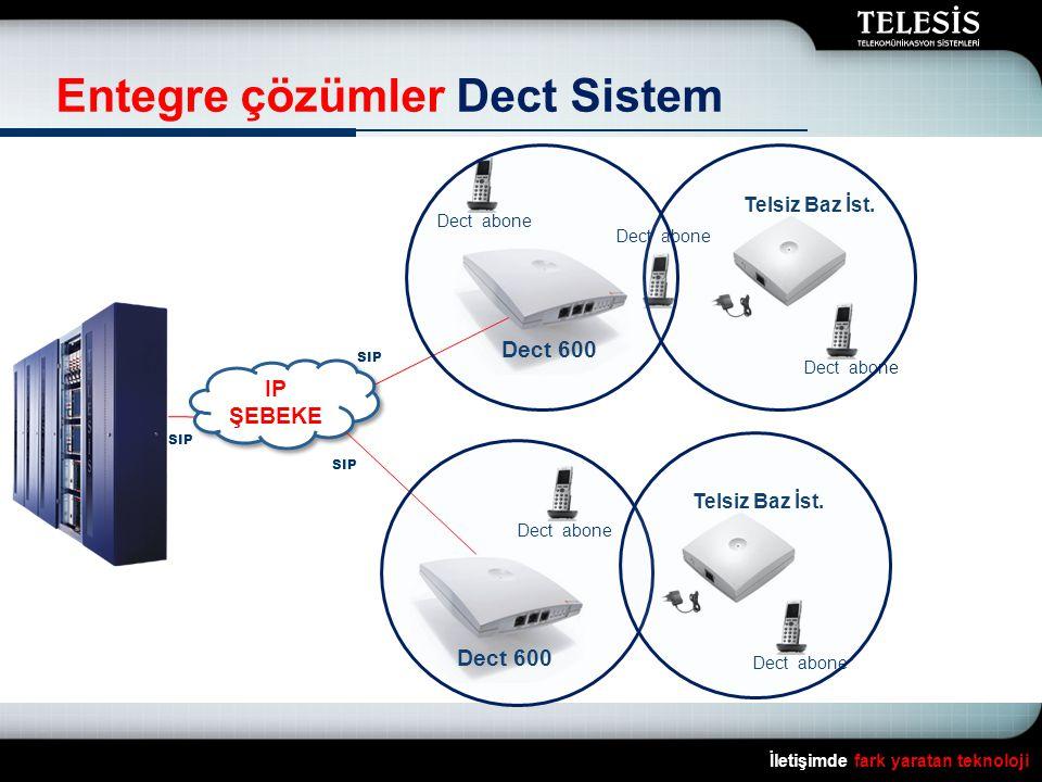 İletişimde fark yaratan teknoloji Entegre çözümler Dect Sistem Dect 600 Telsiz Baz İst.