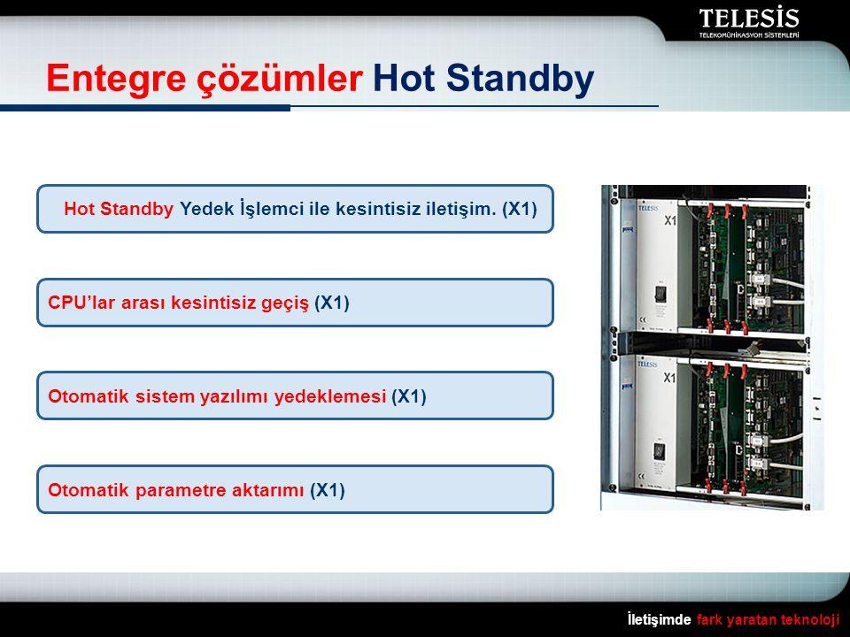 İletişimde fark yaratan teknoloji Entegre çözümler Hot Standby Hot Standby Yedek İşlemci ile kesintisiz iletişim. (X1) CPU'lar arası kesintisiz geçiş