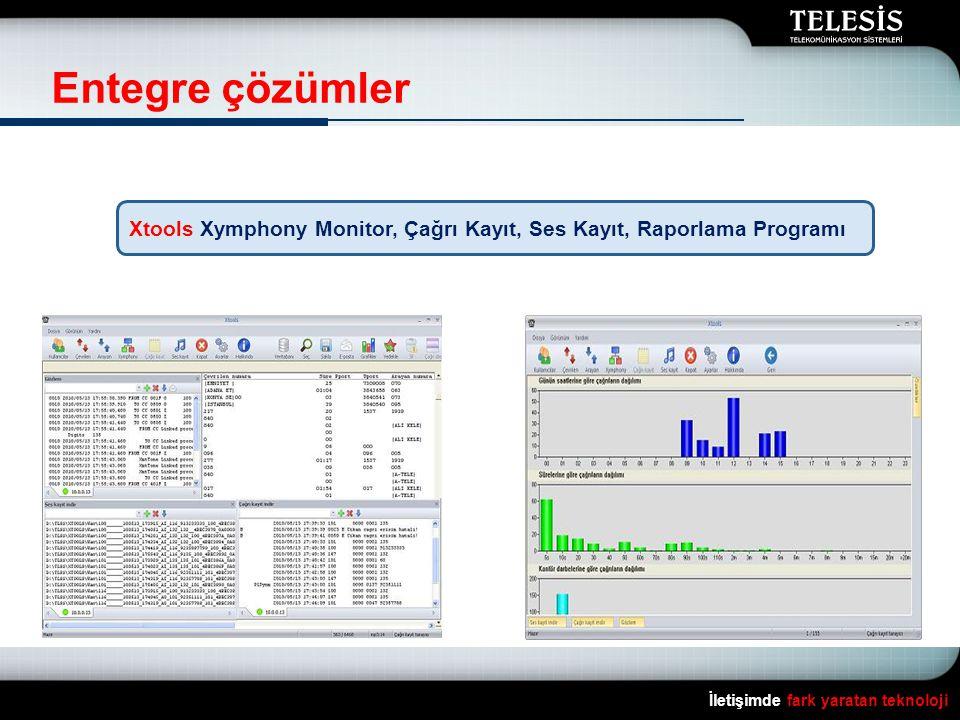 İletişimde fark yaratan teknoloji Entegre çözümler Xtools Xymphony Monitor, Çağrı Kayıt, Ses Kayıt, Raporlama Programı