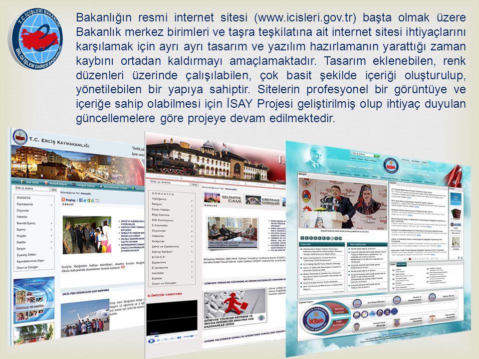İSAY, Web sitesi isteyen alt kurumlar için merkezi içerik yönetim sistemi sağlayan bir hizmettir.