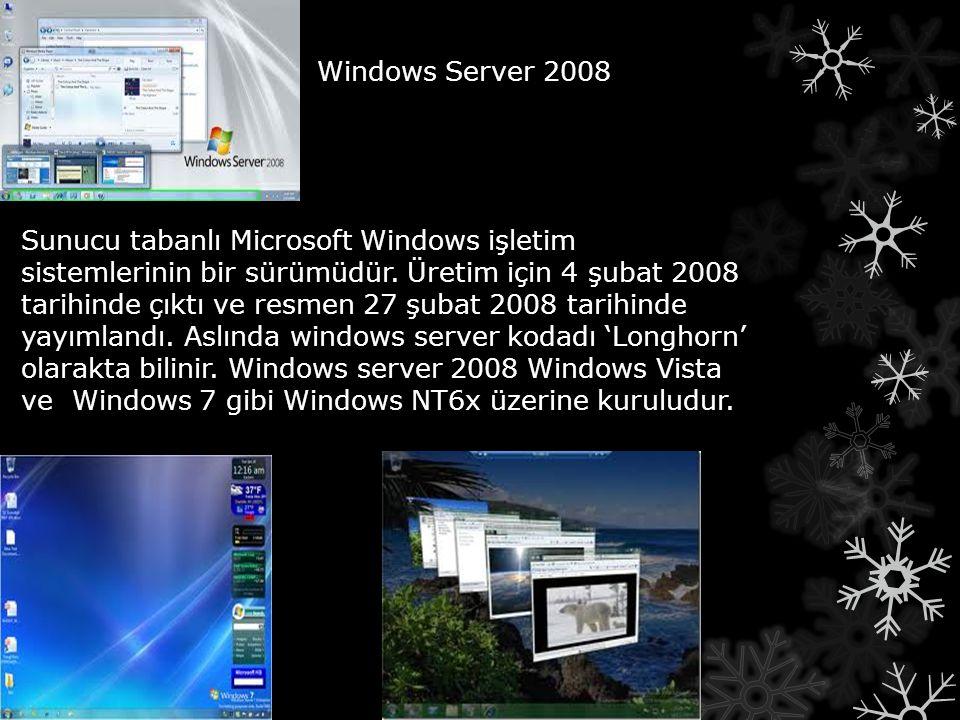 Sunucu tabanlı Microsoft Windows işletim sistemlerinin bir sürümüdür. Üretim için 4 şubat 2008 tarihinde çıktı ve resmen 27 şubat 2008 tarihinde yayım