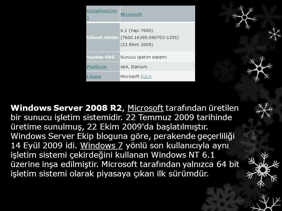 Windows Server 2008 R2, Microsoft tarafından üretilen bir sunucu işletim sistemidir. 22 Temmuz 2009 tarihinde üretime sunulmuş, 22 Ekim 2009'da başlat