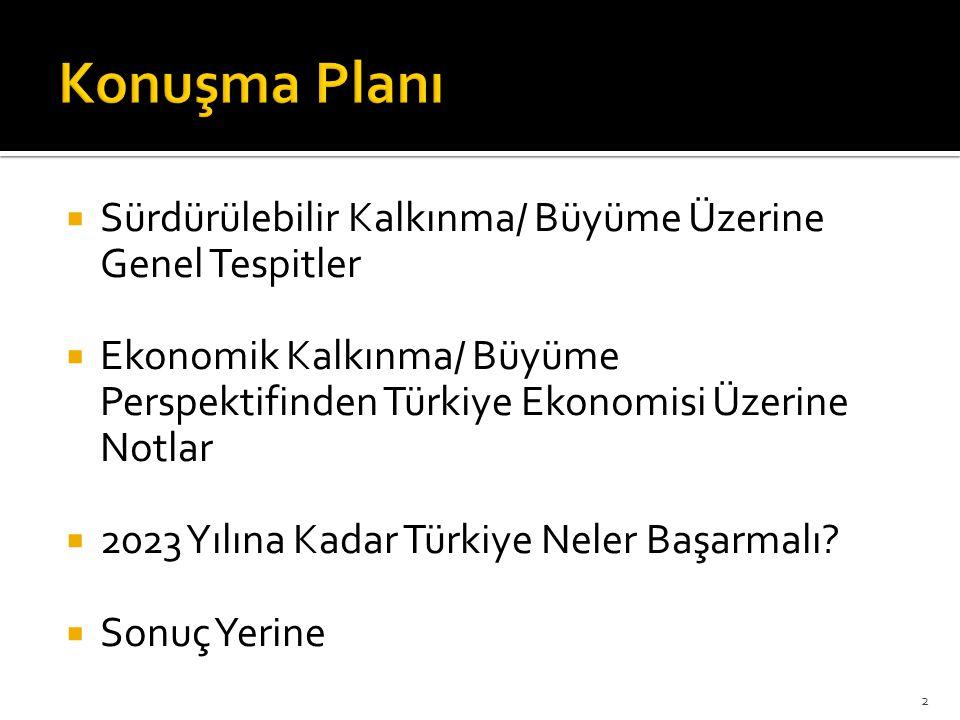 4'er yıllık 3 Aşama tanımlanmıştır:  Atılım  Yatırım  Liderlik 2023 Türkiye İhracat Stratejisi  19 Stratejik hedef  72 eylem ve ölçüt planı içermektedir.