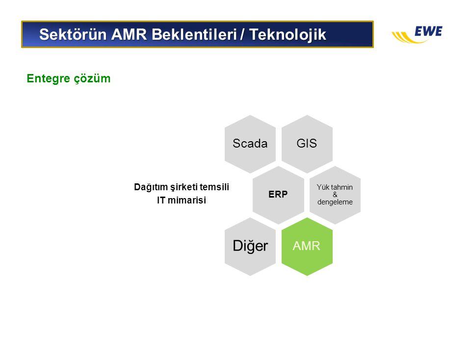 Sektörün AMR Beklentileri / Teknolojik Sektörün AMR Beklentileri / Teknolojik GISScada ERP Dağıtım şirketi temsili IT mimarisi Yük tahmin & dengeleme