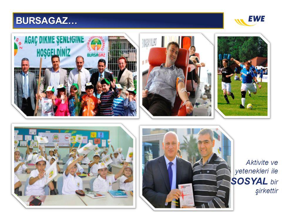 BURSAGAZ… Aktivite ve yetenekleri ile SOSYAL bir şirkettir