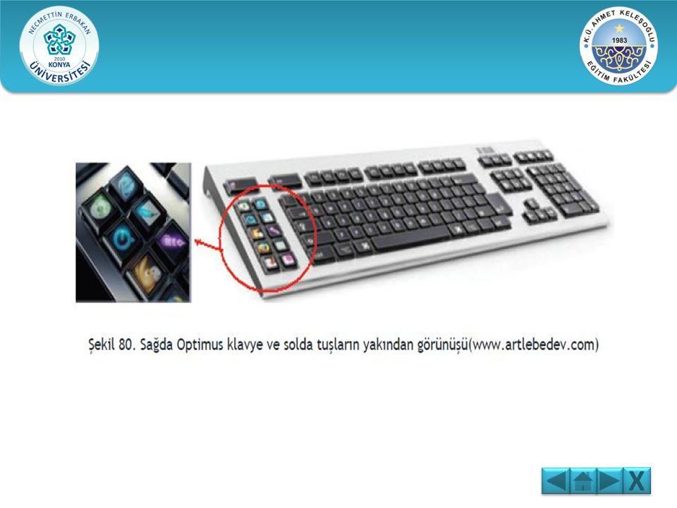 Klavye Çeşitleri: Normal Klavye : Üzerinde sadece karakterler, harfler, sayılar ve fonksiyon tuşlarının bulunduğu klavyelere denir. Multimedya Klavye