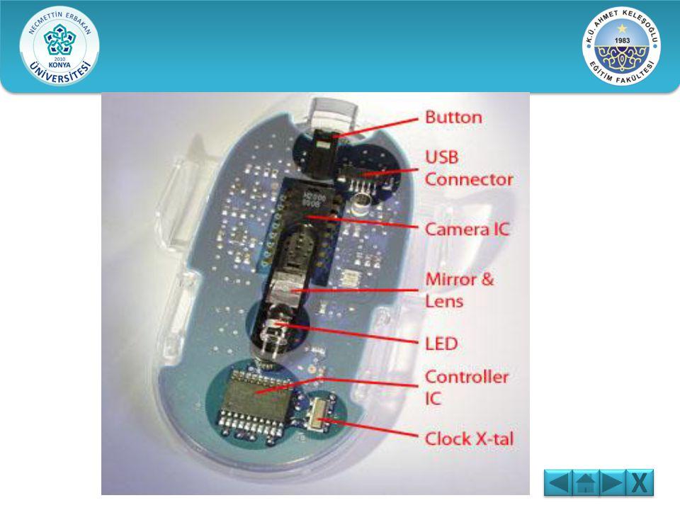 B)OPTİK VE LAZER FARELER: Optik fareler aydınlatma için LED ışığı kullanırken lazer fareler lazer ışınını kullanır. Lazer, yüzeydeki daha fazla ayrınt