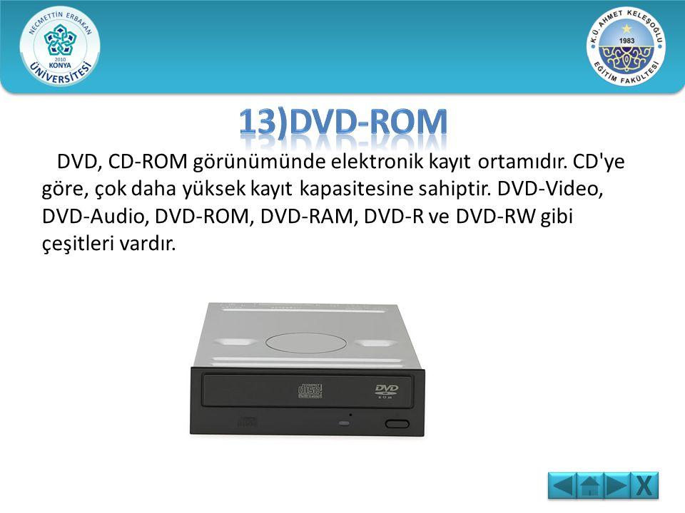 Bir CD ROM'un çapı 12 santimdir. Üzerine 650 ile 900 MB arasında bilgi kaydedilebilir. CD'lerde 700 MB'lık kayıt kapasitesi, yaklaşık olarak 80 dakika