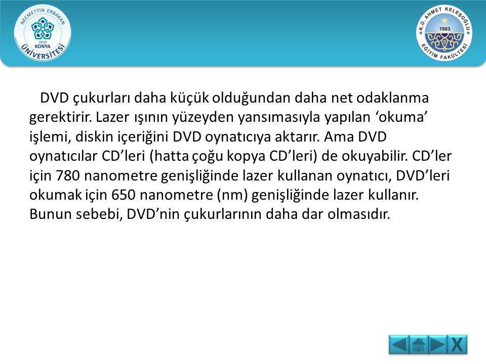DVD, CD-ROM görünümünde elektronik kayıt ortamıdır. CD'ye göre, çok daha yüksek kayıt kapasitesine sahiptir. DVD-Video, DVD-Audio, DVD-ROM, DVD-RAM, D