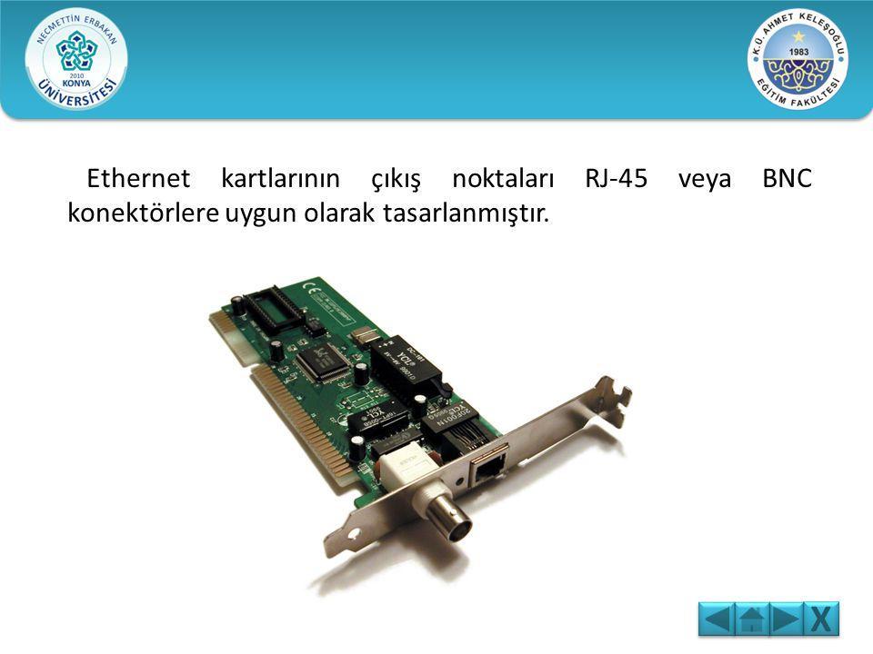 Ethernet kartı, bilgisayar ağlarında bilgisayarla ağ arasında iletişimi sağlar. Ana kartın genişleme yuvalarına takılır. Diz üstü bilgisayarlarda PC C