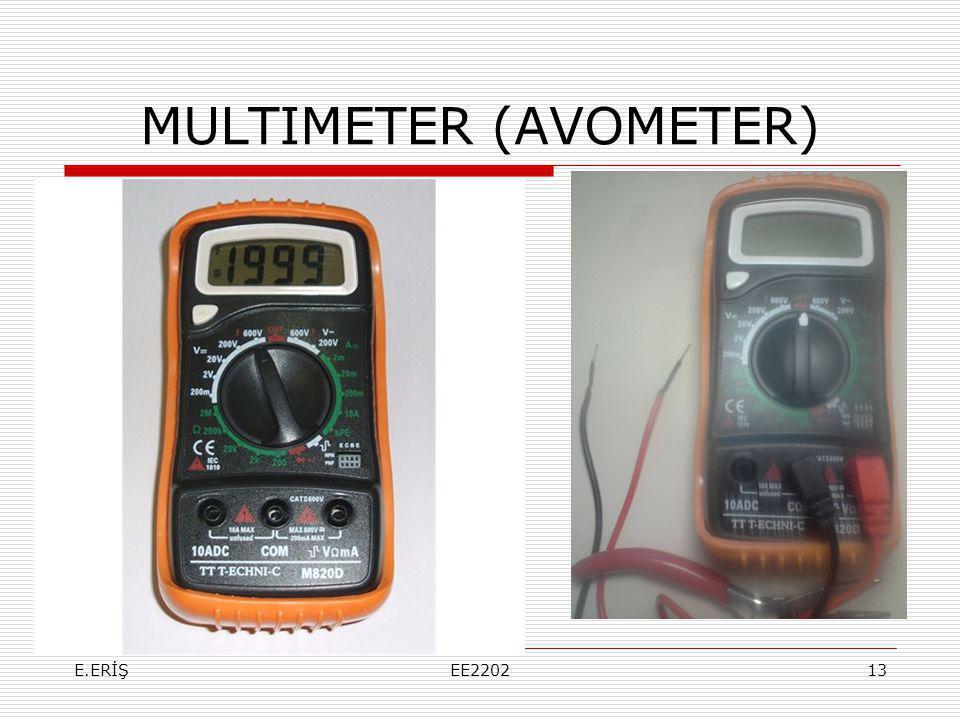 MULTIMETER (AVOMETER) E.ERİŞEE220213