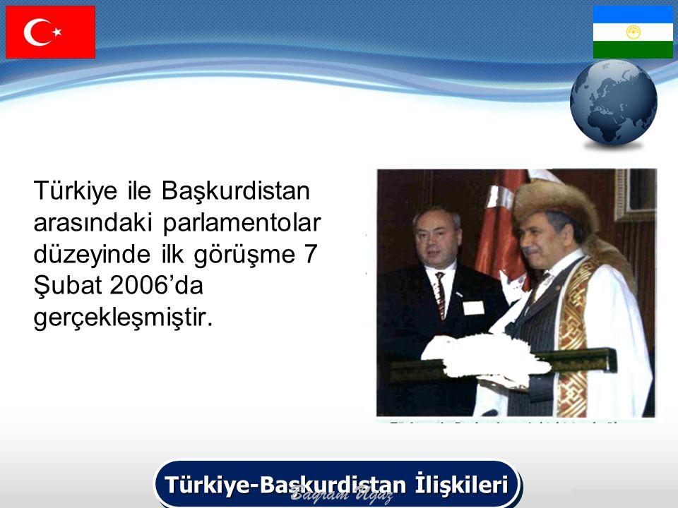 Türkiye ile Başkurdistan arasındaki parlamentolar düzeyinde ilk görüşme 7 Şubat 2006'da gerçekleşmiştir. Türkiye-Başkurdistan İlişkileri Bayram Uguz
