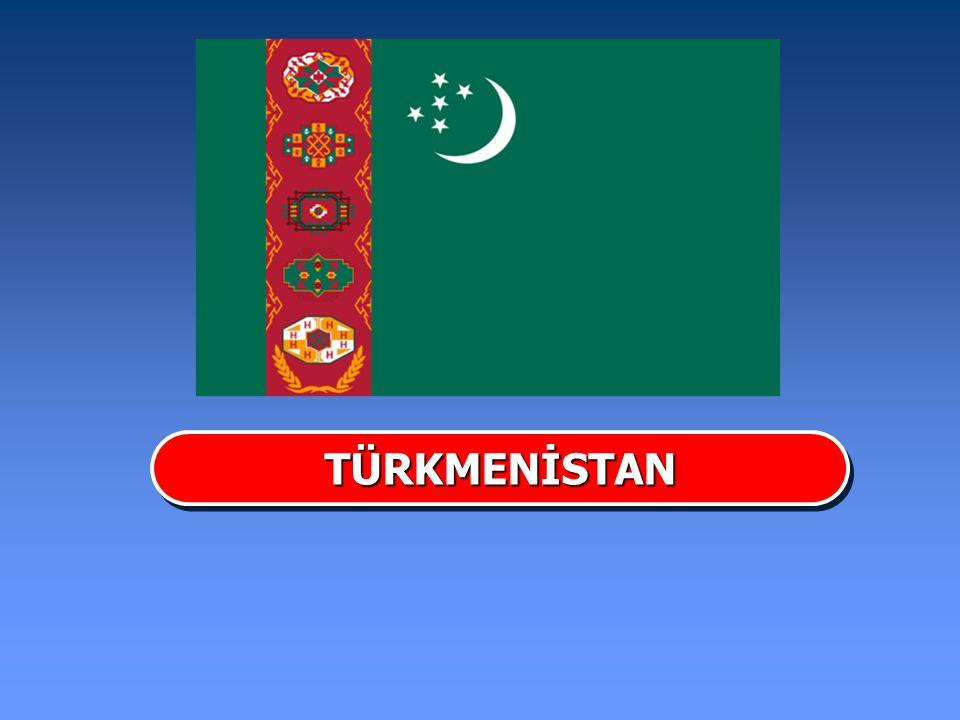 Başkenti Aşkabat Devlet Başkanı Gurbanguli Berdimuha mmedeov Yönetim Biçimi Cumhuriyet Yüzölçümü 448.100 km Nüfusu 7.586.280 (2010) İklimi Karasal Bağımsızlık Tarihi 16 Aralık 1991 TÜRKMENİSTANTÜRKMENİSTAN