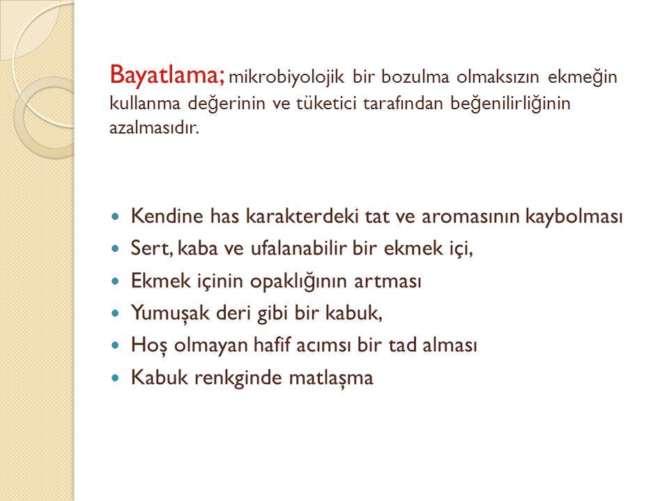 Ekmek k abu ğ u ve içi farklı neme sahiptir.Ekmek k abu ğ u ve içi farklı neme sahiptir.
