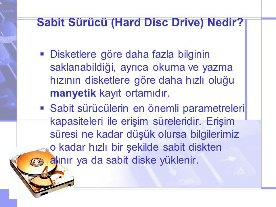 Sabit Sürücü (Hard Disc Drive) Nedir.