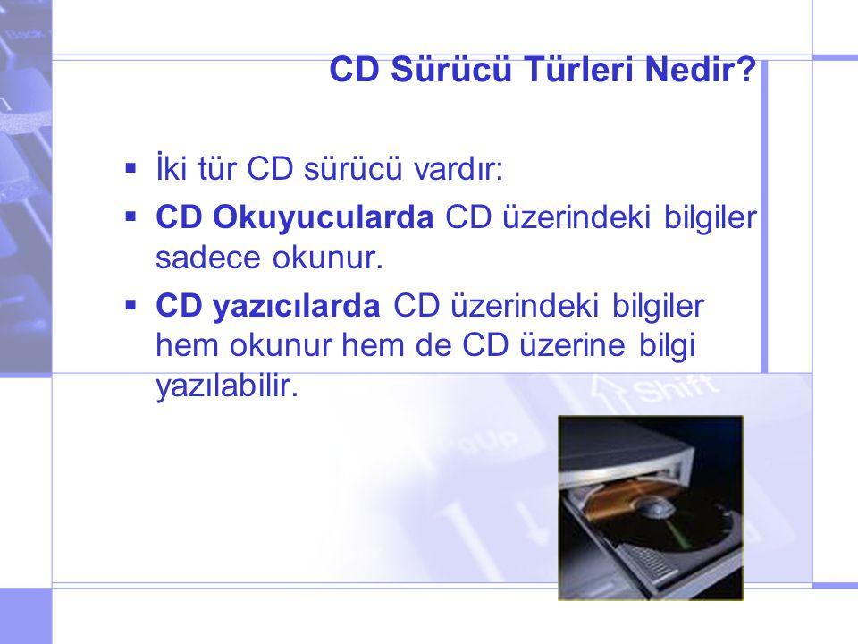 CD Sürücü Türleri Nedir.