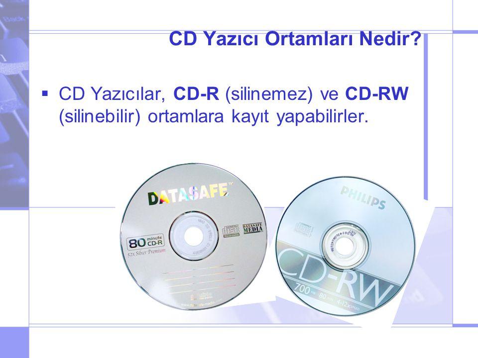 CD Yazıcı Ortamları Nedir.