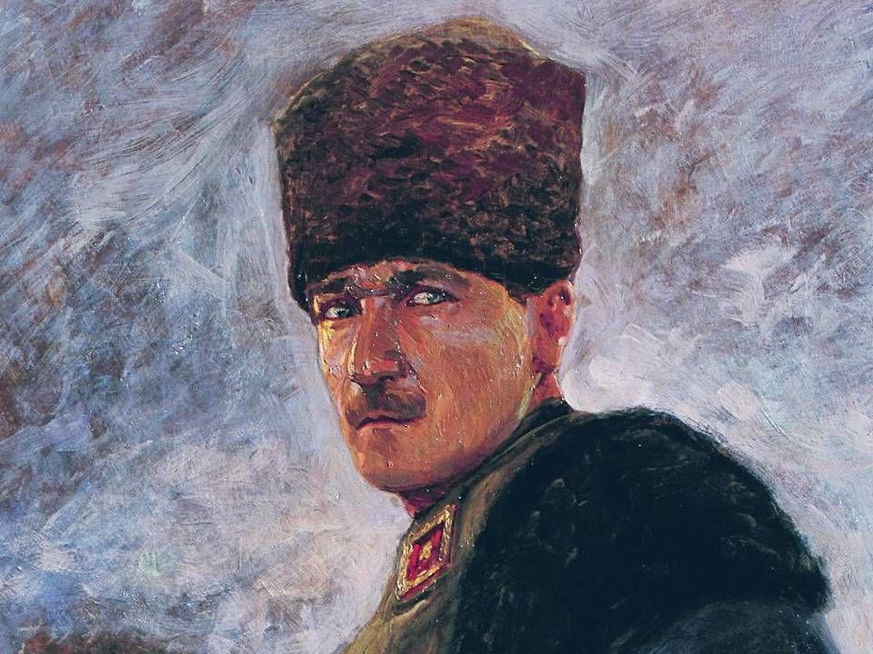 NAZMİ ZİYA GÜRAN ATATÜRK Tuval üzerinde yağlıboya / 146x96,5cm. MSGSÜ İstanbul Resim ve Heykel Müzesi Kol.