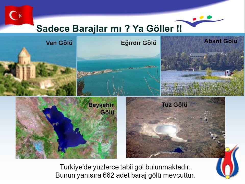 Sadece Göller mi? Ya Yeraltı Sularımız !! Türkiye'de yaklaşık 26 Su havzası bulunmaktadır.