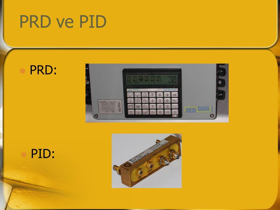 Çalışma prensibi (boşaltım)  PRD, iletken boşaltım hortumu üzerinden elektrik akımı gönderir.
