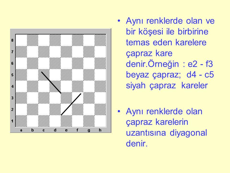 Şimdi satranç tahtasına daha dikkatli bakalım •Ne görüyorsunuz.