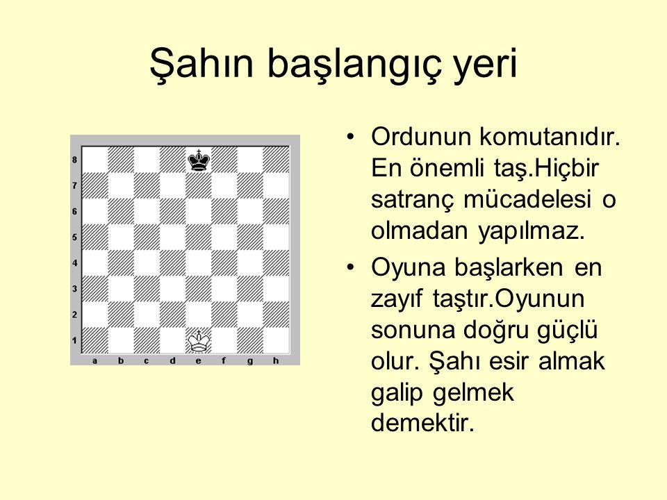 ŞAH •Satranç tahtasında görebileceğiniz gerçek Şah.
