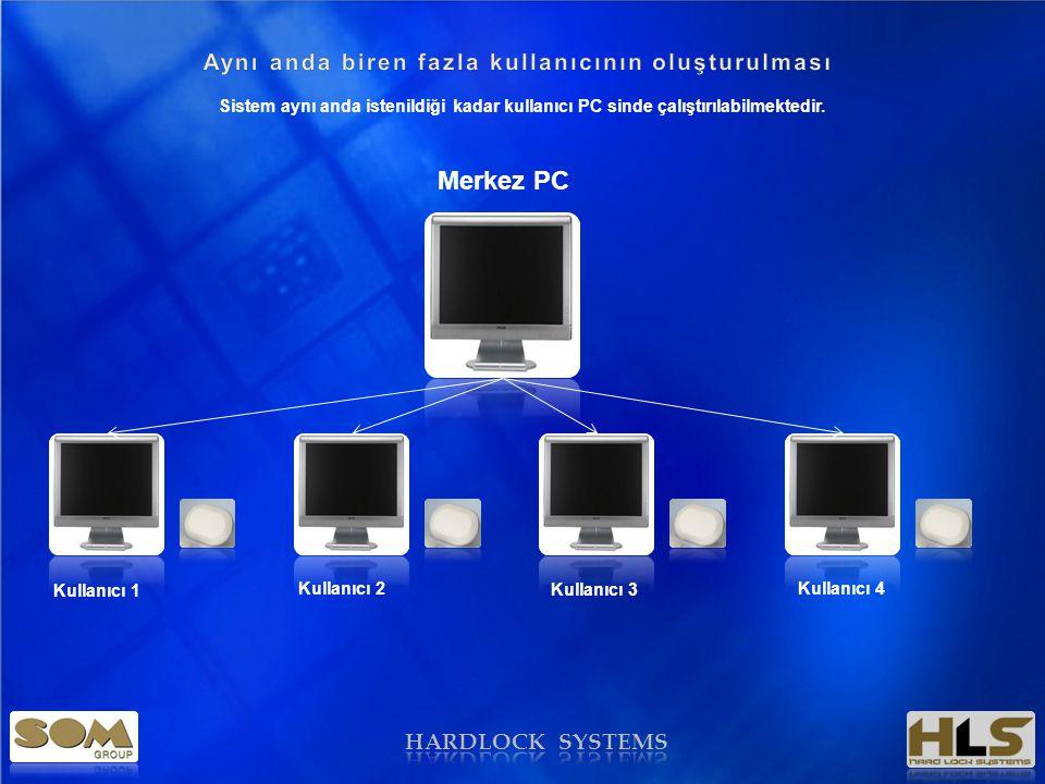 HARDLOCK SYSTEMS Program Card Build Smartcard Kilit KasaPos CihazıECU Yapılan kartlar ile; Sistem aynı anda istenildiği kadar kullanıcı PC sinde çalıştırılabilmektedir.