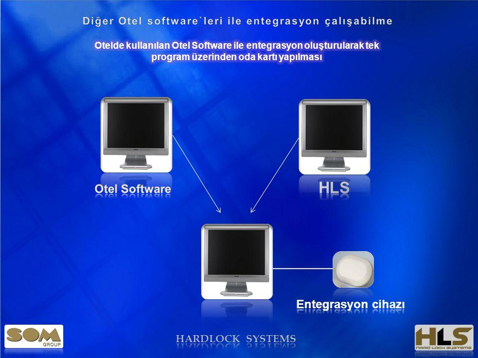 HARDLOCK SYSTEMS Genel Özellikler • Otel software leri ile entegrasyon çalışabilme; • Aynı anda 1 den fazla kullanıcının oluşturulması; • Oracle, SQL ve istenen diğer database programları ile çalışabilme • Yapılan kartlar ile; Kapı kilidini; Oda kasasını; ECU ( Energy kontrol ünitesini çalıştırabilme ) Pos cihazları ile kullana bilme •15 seviye masterlama •İstenilen seçeneklerde oda yapısının oluşturulması •Kilit üzerindeki giriş bilgilerinin okunması •Rezervasyon yönetimi ile kartların hazırlanması