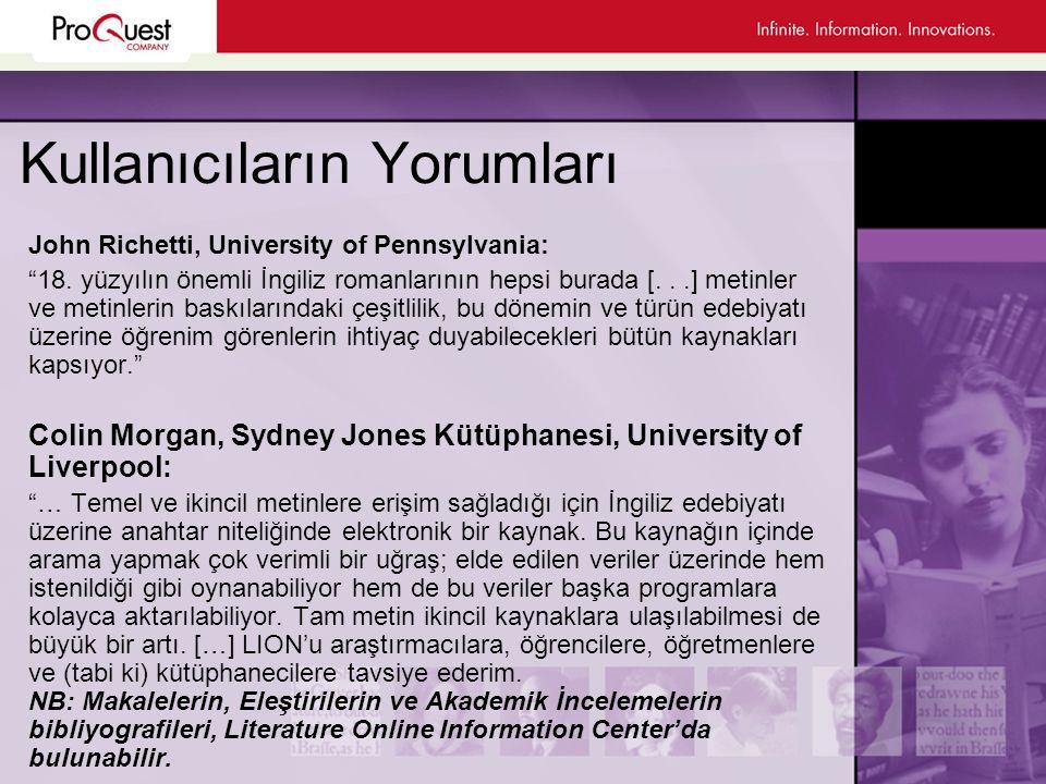 Kullanıcıların Yorumları John Richetti, University of Pennsylvania: 18.