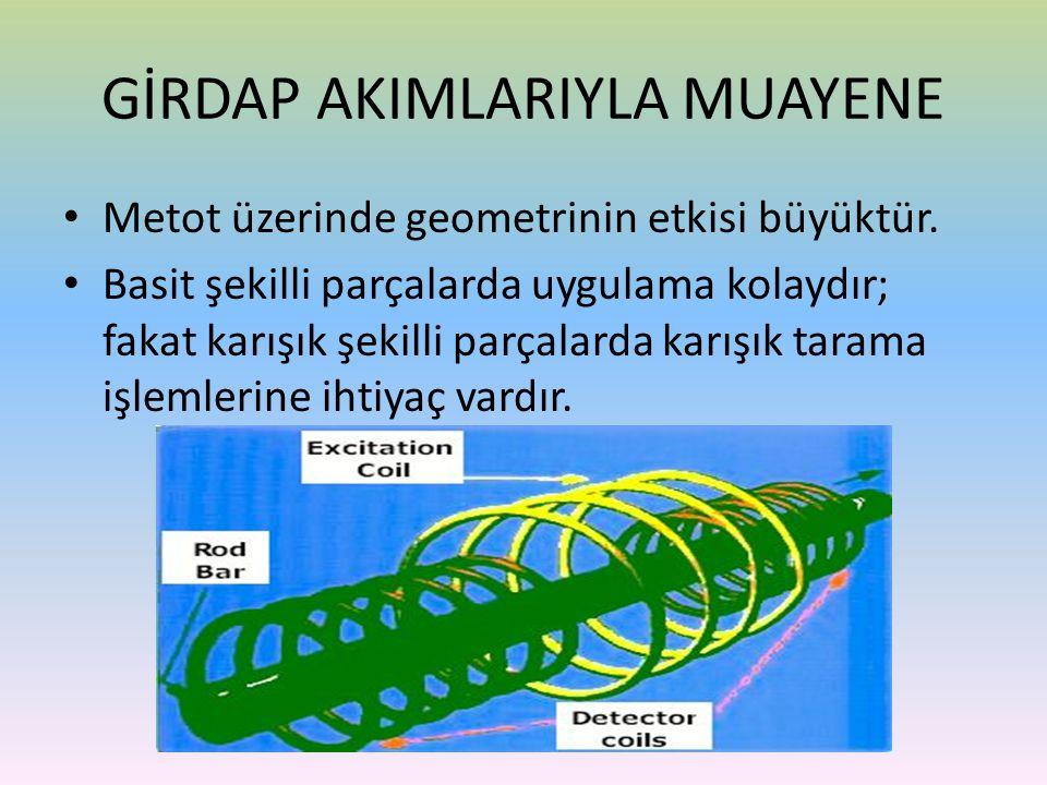 • Metot üzerinde geometrinin etkisi büyüktür. • Basit şekilli parçalarda uygulama kolaydır; fakat karışık şekilli parçalarda karışık tarama işlemlerin
