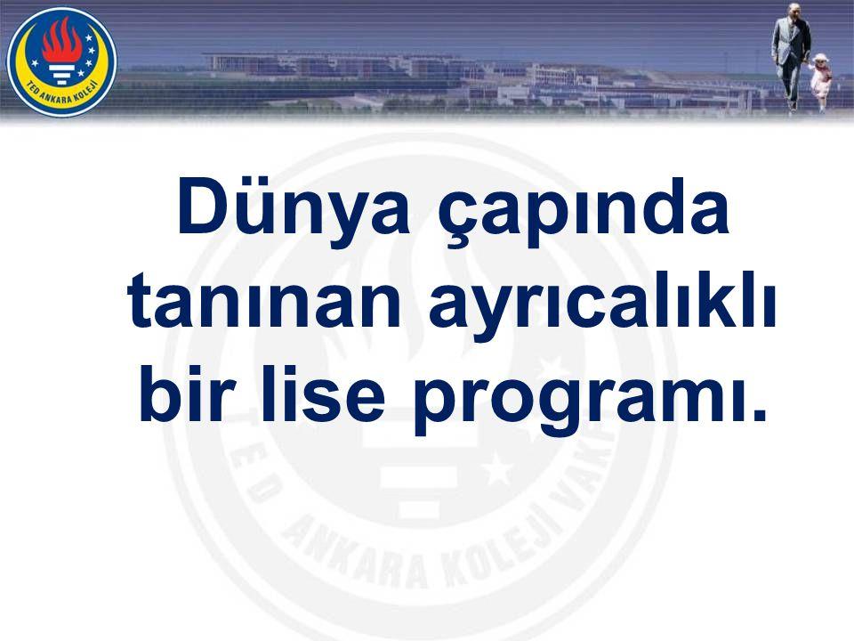 9. ve 10. sınıflar UBDP hazırlık, 11. ve 12. sınıflar UBDP olmak üzere 4 senelik bir program.