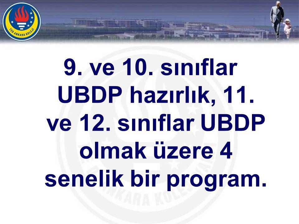 Türkiye de en çok öğrenciyle ve en yüksek başarı düzeyiyle UBDP eğitimi veren okul TED Ankara Koleji.