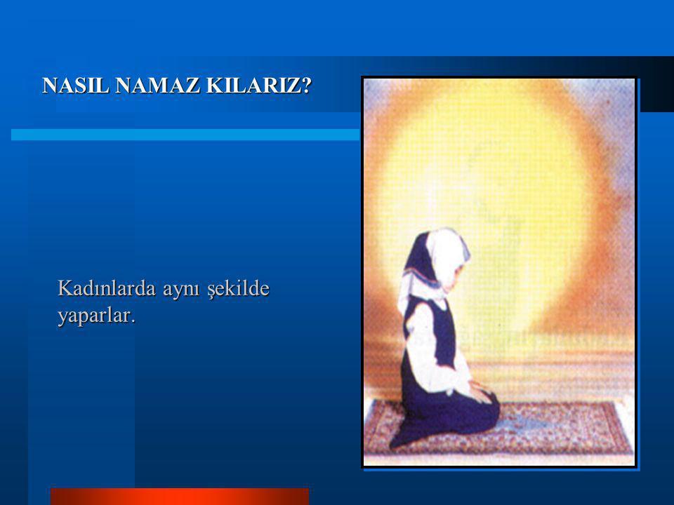 8- İkinci rekatın sonunda, ikinci secdeden sonra (Allahü ekber) deyince ayağa kalkmayıp uyluklar üzerine oturulur, (Ettehıyyatü), (Allahümme salli), (