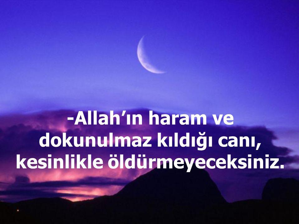 -Allah'a hiçbir şeyi ortak koşmayacaksınız.