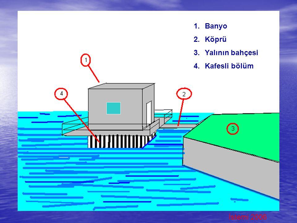 İstemi 2006 1.Banyo 2.Köprü 3.Yalının bahçesi 4.Kafesli bölüm