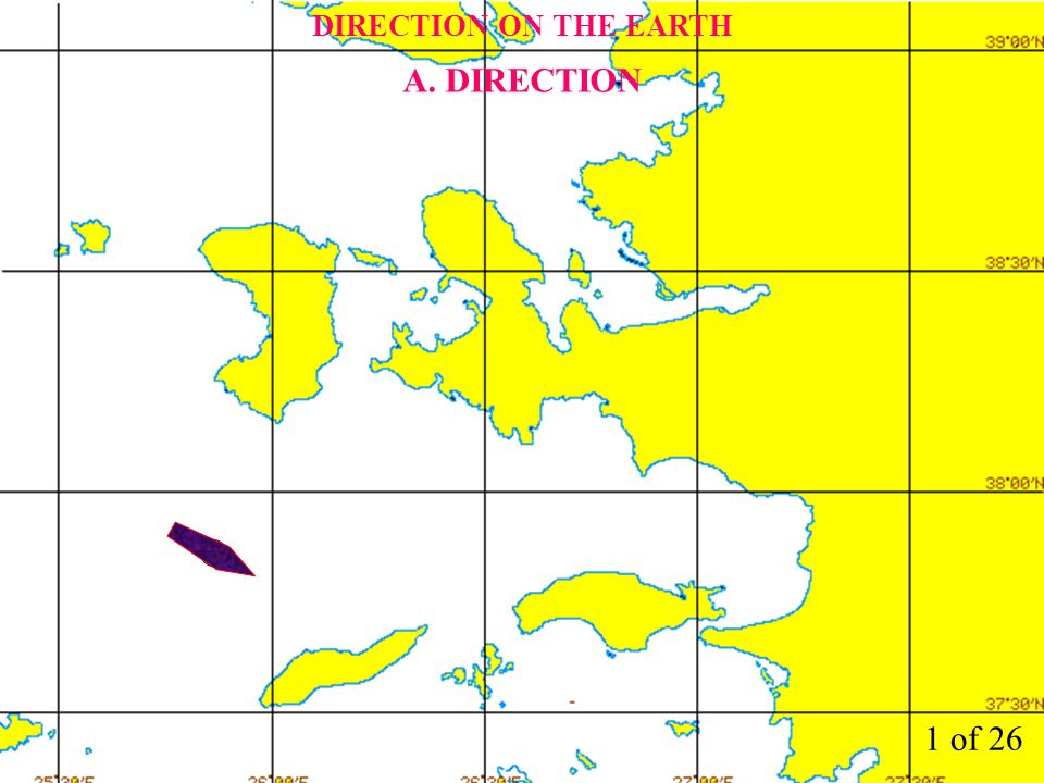 2 of 26 DIRECTION ON THE EARTH A. DIRECTION